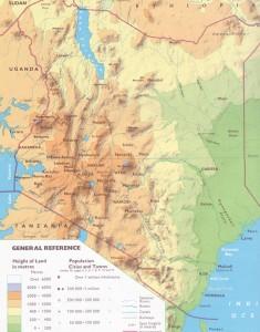 Keniakarte physisch Kopie