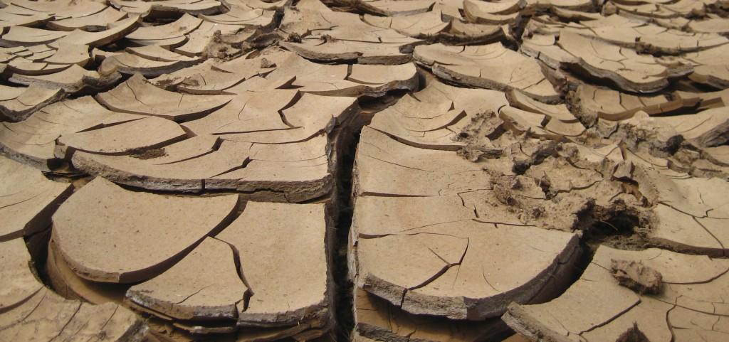 ausgetrocknete Wasserstelle Ausschnitt