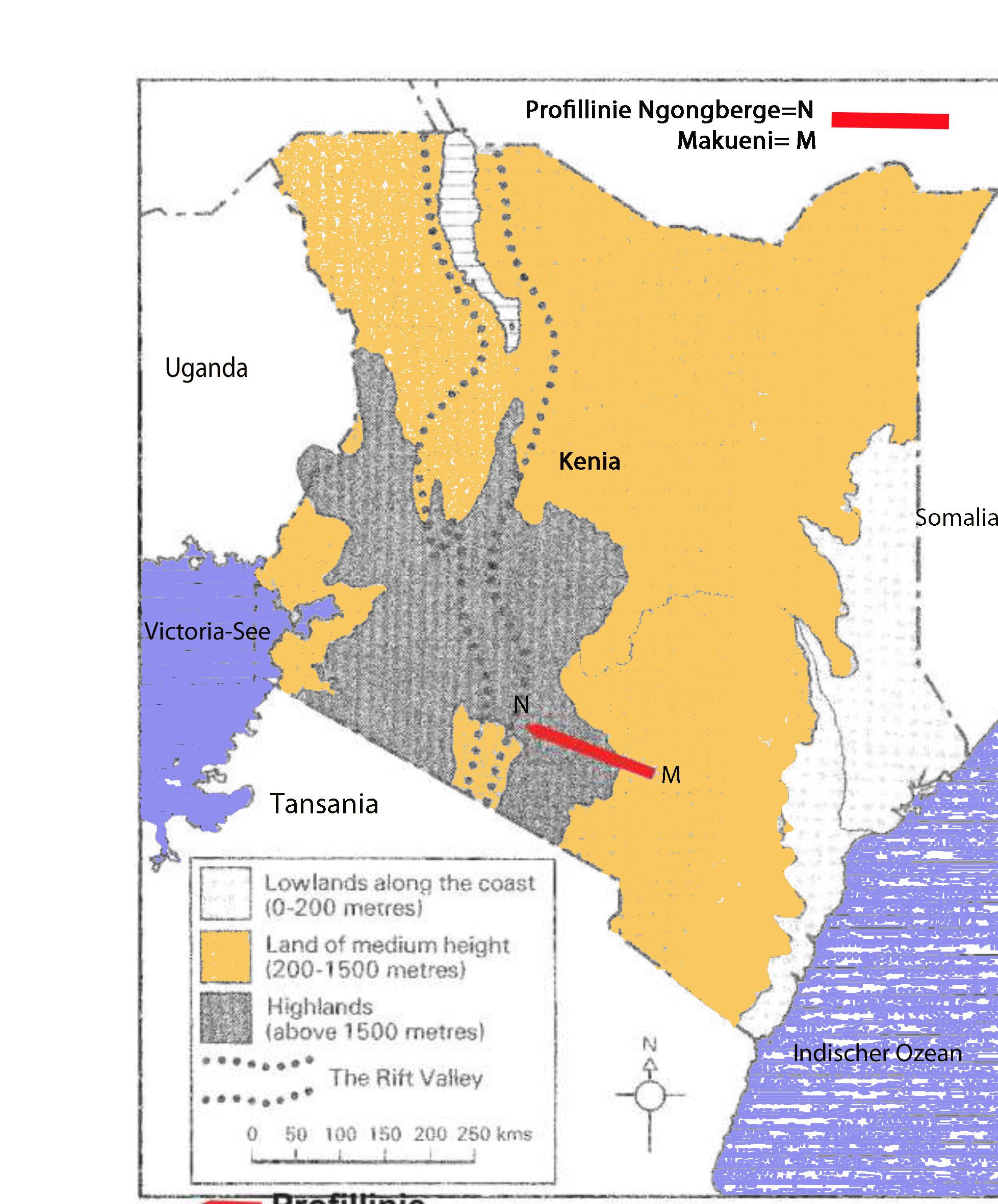 Kenia Karte.0 Karte Profillinie Kopie Wasser Für Kenia
