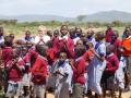 Schulkinder einer Massaischule Januar 2014